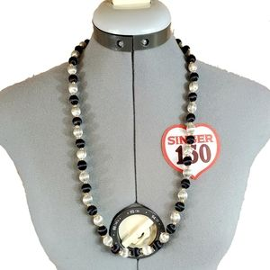 30 inch wrapped bead necklace